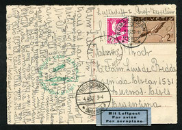 5.4./7.4.1932   2. Südamerikafahrt 1932 mit Anschlussflug ab Pernambuco nach Argentinien