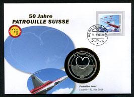 Formation Heart, Locarno, 31. Mai 2014 --- 50 Jahre Patrouille Suisse