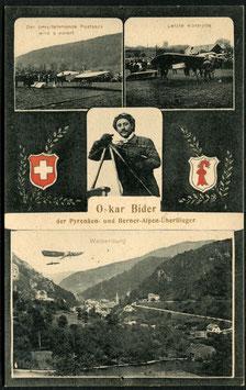 AK Oskar Bider der Pyrenäen- und Berner-Alpen-Ueberflieger