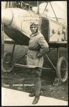 AK Pilot Charles Hoegger in Dübendorf