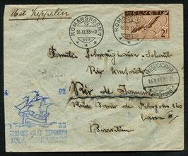 16.9./19.9.1933   7. Südamerikafahrt 1933 Anschlussflug nach Rio de Janeiro, Brasilien