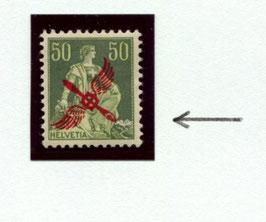 1919 Marke  Nr. F2     Abart: farbloser Ring im Propeller   - selten!   Signiert Abt