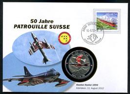 Hawker Hunter 1994, Interlaken, 11. August 2012 --- 50 Jahre Patrouille Suisse