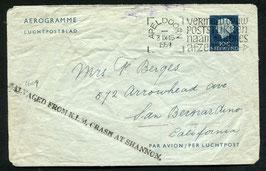 5.9.1954 Shannon, Irland -  Lokheed Constellation, Amsterdam - New York,  Nierinck 540905