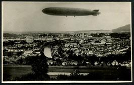 2.11.1929  Schweiz-Fahrt Landung in Zürich Dübendorf auf original Foto (Zeppelin über Bern)