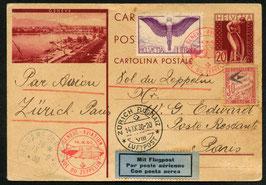 14.9.1930 Zeppelin Schweizer-Fahrt Landung in Genf dann weiter nach Paris, Frankreich