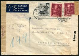 Historische Bilder 24.2.1944 Zürich via Lissabon-New York-Buenos Aires, Argentinien