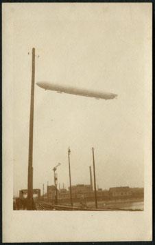 15.9.1909 Graf Zeppelin über Mannheim Fotokarte (Vorläufer)