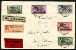 Memelgebiet 1922 R-FLP Brief von Memel nach Basel, Schweiz