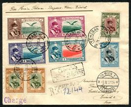 IRAN 31.3.1931 R-FLP Brief von Teheran nach Zürich, Schweiz