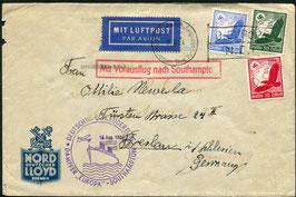 K198 16.8.1934 3.10.1934 Katapultflug Dampfer Europa - Southampton nach Breslau, Schlesien