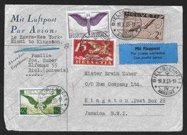 19.10.1933 FLP von Biel nach Kingston, Jamaika