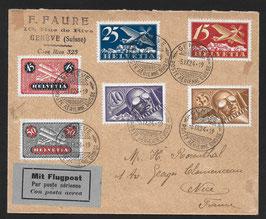 5.9.1924 FLP Brief von Genf nach Nice, Frankreich