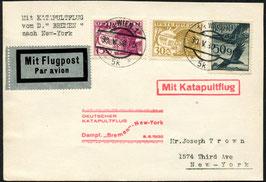K25  5.6.1930 Katapultflug Dampfer Bremen - ab Wien nach New York,  Zuleitung Österreich