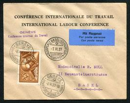 "Sonder-Stempel 1927 ""Conférance Internat. du Travail"" Genf, 6.6.1927"