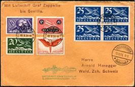 17./20.10.1931   3. Südamerikafahrt 1931 mit schöner Frankatur