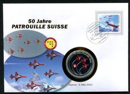 Payerne, 6. März 2014 --- 50 Jahre Patrouille Suisse
