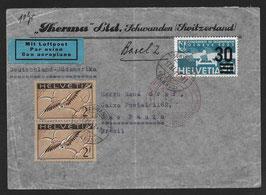 17.11.1937 FLP von Schwanden nach Sao Paulo, Brasilien