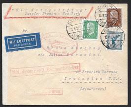 20.8.1929 Deutscher Schleuderflug Dampfer Bremen nach New York, USA