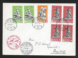 9.5.1940 Nationalspende und Rotes Kreuz Bellinzona via FP17 nach Burgdorf