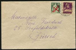 RF 19.1 oz   23.9.1919 FLP Brief von Genf nach Zürich
