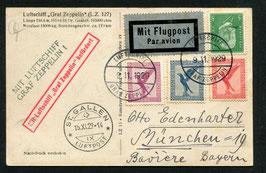 15.11.1929 Zeppelin 50. Fahrt des L.Z. 127 Fahrt im Bodenseegebiet mit Abwurf über der Schweiz