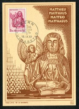 18.9.1961 FDC Evangelisten auf 4 PEN Karten Limitiert nur 50 Stk! Set trägt Nr. 15