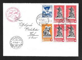 9.5.1940 Nationalspende und Rotes Kreuz Bellinzona via FP17 nach Hasle b/Bern