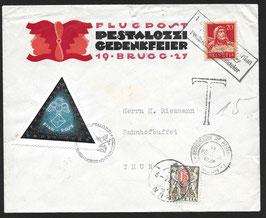 SF27.1d 1927 Brugg - Yverdon anl. 100. Todestag von Heinr. Pestalozzi