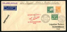 9./19.10.1932  8. Südamerikafahrt 1932 Zuleitung Niederlande nach Pernambuco, Brasilien