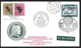 11. Österreichische Kinderdorf-Ballonpost Pro Juventute