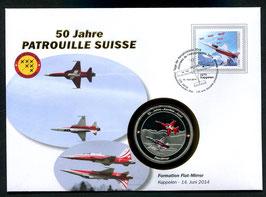 Formation Flat-Mirror, Kappelen, 14. Juni 2014 --- 50 Jahre Patrouille Suisse