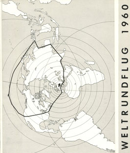 Gedenkblatt 23.2./17.3.1960 Weltrundflug Gruppenreise