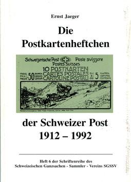 2002 Ernst Jaeger, Die Postkartenheftchen der Schweizer Post 1912 - 1992