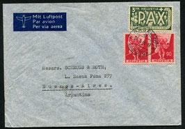 Historische Bilder 24.1.1946 Basel nach Buenos Aires, Argentinien mit PAX Kombi