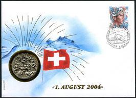 2004 Numisbrief 1. August Taler - Thema: Helvetische Revolution 1798 - 1803