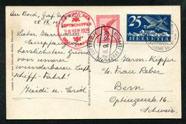 28.9.1929 3. Schweiz-Fahrt Abwurfversuch Lausanne selten