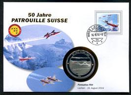 Formation Flirt, Lachen, 16. August 2014 --- 50 Jahre Patrouille Suisse