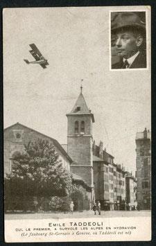 AK Pilot Emile Taddeoli über seinem Geburtsort