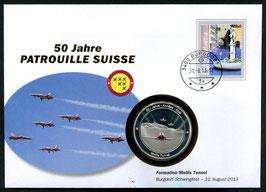 Formation Mollis Tunnel, Burgdorf Schwingfest, 31. August 2013 --- 50 Jahre Patrouille Suisse