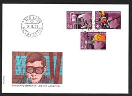 14.9.1978 Sonderpostmarken SUVA auf illustr. FDC  PHilswiss, nicht zusammenhängend!