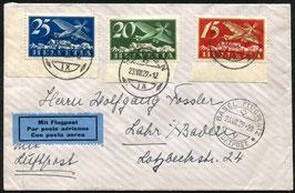23.8.1929   FLP Satz-Brief von Heiden via Basel nach Lahr, Deutschland