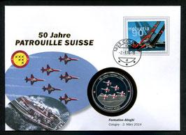 Formation Alinghi, Cologny, 2. März 2014 --- 50 Jahre Patrouille Suisse