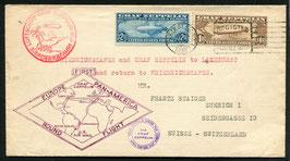 24.8.1930  Zeppelin Südamerikafahrt mit LZ 127 Rückfahrt USA -  Fr'hafen - Schweiz