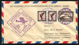 Flugschiff DO-X  10.5.1932 Deutschland, Bordpost vom Rückflug des Atlanikfluges