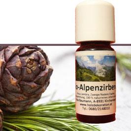 Ätherisches Bio Zirbenöl 10ml, echt und rein, ideal zum Auffrischen von Zirbenkissen, Zirbenflocken oder Zirben Hackschnitzel