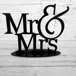 MUÑECO DE TOPPER MODELO MR Y MRS - metalico-  DE ALTURA 14CM di