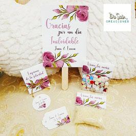 Pack flores lilas de 1€