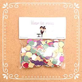 Bolsita de confetis colección novios pastel  Introduce vuestros nombres en el carrito de compra apartado observaciones sobre tu pedido Medidas: 8cmx8cm Grosor del papel 350g