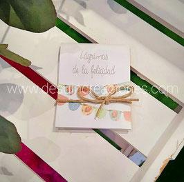Lágrimas de la felicidad Colección banderines pastel